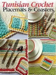 Tunisian Crochet Patterns Unique Tunisian Crochet Patterns Tunisian Crochet Placemats Coasters
