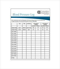 blood pressure and blood sugar log sheet sample blood pressure log 7 free pdf download documents free