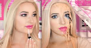 melting barbie halloween makeup tutorial yutorial watch share and learn video tutorials