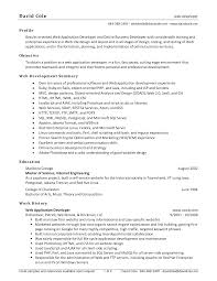 Cover Letter Web Design Resume Example Web Design Resume Template