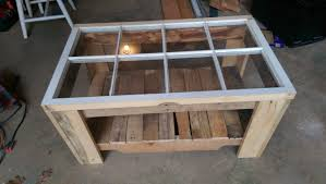 Coffee Tables Out Of Pallets Wood Pallet Old Window Coffee Table Youtube