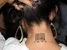 стильное тату штрих код значение эскизы и фото готовых работ