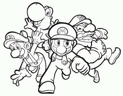 Coloring Pages Free Super Mario Brothers Coloring Sheets Printable