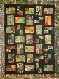 green and brown quilt patterns patchwork quilt brown orange and green by kallistiquilts on green
