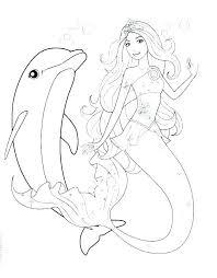 Barbie Mermaid Colouring Mermaids Coloring Pages Mermaid Coloring
