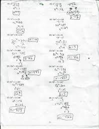solving quadratic equations using the formula worksheet