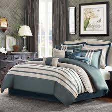 com madison park 12 piece harlem comforter set queen blue green home kitchen