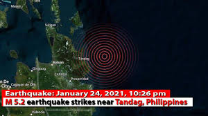 Information and facts about all earthquakes today. Philippines Earthquake Today Magnitude 5 2 Earthquake Strikes Near Tandag January 24 2021 Youtube