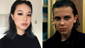stranger things eleven s in punk makeup was recreated by a beauty ger