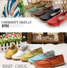 free ups ship new 2016 vintage women flats genuine leather shoes woman candy color boat shoes breathable fashion flat shoes tenis moccasins blue shoes clogs