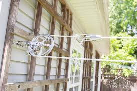 How To Make A Clothesline Enchanting How To Make A DIY Pulley Clothesline