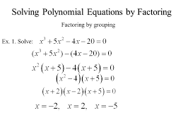 solving polynomial equations factoring slide 1 portray delectable grouping solve