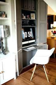hidden office desk. Hidden Desk Cabinet Office Along Projector
