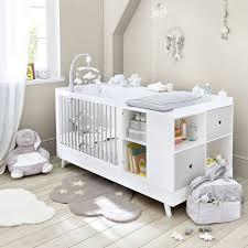Ein babybett mit wickelkommode wiederum ist ein 2 in 1 möbelstück, welches beide elemente miteinander vereint. Babybett Kombination Weiss Und Grau L190 Celeste Maisons Du Monde