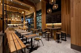 Separate 'white coffee' and 'black coffee' workplaces allow the morning  rush customers to be catered for at the front of the store, independent of  those ...