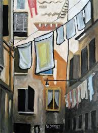 discover original art by robert holewinski wash day in venice oil painting art for