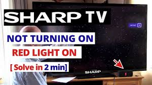 Sharp Aquos Blinking Green Light How To Fix Sharp Tv Wont Turn On Power Light Blinks Quick Solve In 2 Minutes