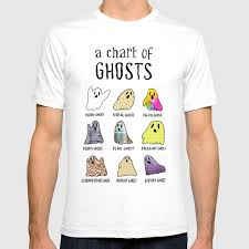 Society6 T Shirt Size Chart A Chart Of Ghosts T Shirt By Rludovico