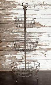Decorative Wire Tray Tiered Serving Tray White Painted Metal Curly Wire Basket Three 66
