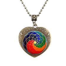 heart chakra necklace balanced stone