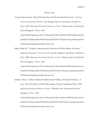racial profiling thesis paper erwc thesis statement racial profiling by laura quiroz on prezi
