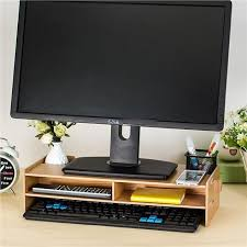 yui monitor riser organizer rack cabinet wooden diy computer desktop table 6 colors