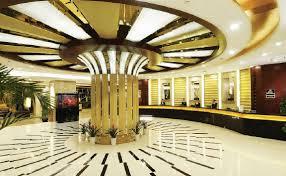 Hotel lobby decoration ceiling and aquarium