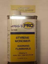 Amazon.com : Harvard Marine MARPRO STYRENE MONOMER 16oz / 1PINT : Sports &  Outdoors