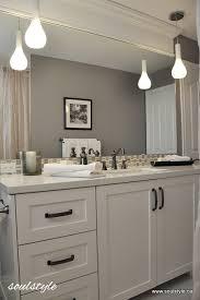Bathroom pendant lighting Diy Hanging Pendant Lighting And Moulding Header Above The Mirror Hometalk Family Bathroom Renovation Hometalk