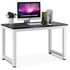 home office computer. tribesigns modern simple style computer desk pc laptop study table workstation for home office black