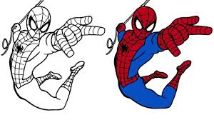 # how to draw spiderman civil war step by step. How To Draw Color Action Spiderman Spider Man Song Colouring Pages For Kids Youtube