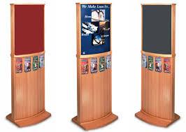 Poster Board Display Stands Fascinating CDFa Floor Display Frames Wood Poster Frames Lobby Displays