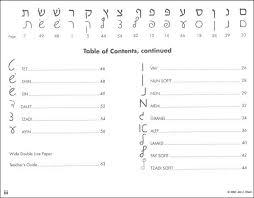 Ktav Bkalut Hebrew Script Handwriting Without Tears