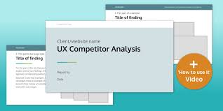 Competitor Research Template Ux Competitor Analysis Report Template Ux Design Templates