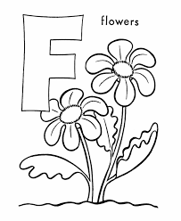 letter f color pages abc alphabet coloring sheet f is for flowers honkingdonkey