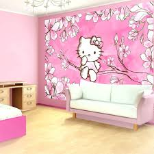 theme wallpaper for walls pink bedroom ideas with hello kitty design and  girls jungle