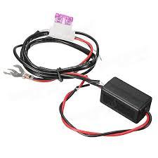 Автомобиля v led идущий проводка реле ДХО ко руб  12v Авто led Контрольная лампа релейного фонаря drl Контроллер включения выключения drl
