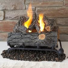 real flame 18 inch gel fuel log fireplace conversion set oak 2610 o gas log guys