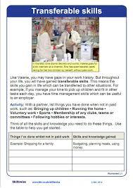 Transferable Skills Worksheet Job Seekers Worksheet Preview Words Bbc One School