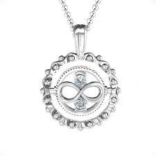 Fancy flip pendant with birthstone infinity side