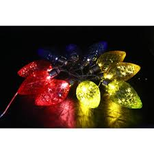decorative string lighting.  String Alpine 10Light LED Light Bulbs With MultiColor Decorative String Lights  Set Intended Lighting