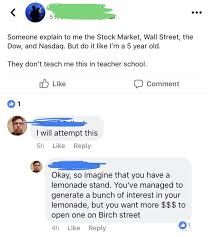 The nasdaq stock market /ˈnæzˌdæk/ (listen) is an american stock exchange based in new york city. Guy Explains Stock Market In Simple Terms Fail Blog Funny Fails
