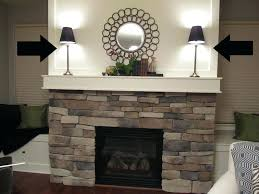lamps for fireplace mantel apartment large size brick fireplace mantel decorating ideas design and image of
