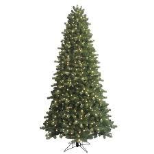 GE 9 Ft Indoor PreLit LED Energy Smart Spruce Artificial Pre Lit Spruce Christmas Tree