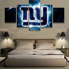 5 pieces new york giants ny logo modern home wall decor painting canvas art hd print on ny giants canvas wall art with 5 pieces new york giants ny logo modern home wall decor painting