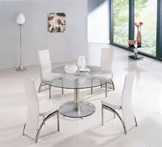 wonderful glass circle dining table 6 seater round glass dining table wildwoodsta