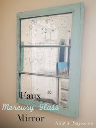 mercury glass mirror. DIY Faux Mercury Glass Mirror From An Old Window. Learn How To Make One With Spray Paint At AttaGirlSays.com T