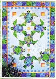 Sea Turtle Quilt: Taming The Wind: New Quilts! | Quilts ... & Shell We Dance - fun paper pieced & applique wall quilt pattern ( turtle) Adamdwight.com