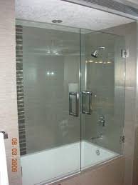 glass door for bathtub elegant schon mia 40 in x 55 semi framed hinge tub and shower within 20