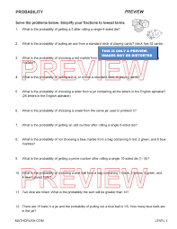 statistics and probability worksheets and help pages by Math Crush
